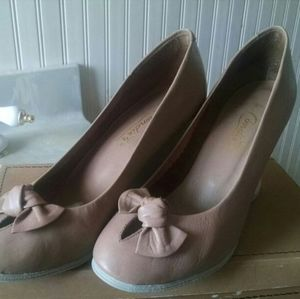 Candies Leather Pump Shoes
